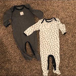 Burt's Bee's Baby Organic Footy Pajamas, 6-9 Mo